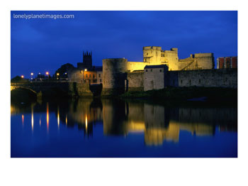 King John's Castle Over the River Shannon, Limerick, County Limerick, Ireland, Munster