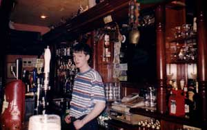Tommy Bartending at Cryan's Pub