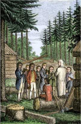 Eleazer Wheelock Founding Dartmouth College in the Forests of New Hampshire, 1770