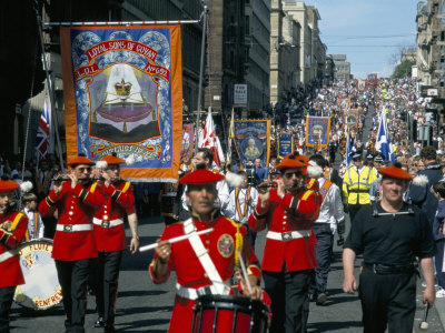 Annual Orange Order Parades, Anniversary of the Battle of the Boyne, Glasgow, Scotland