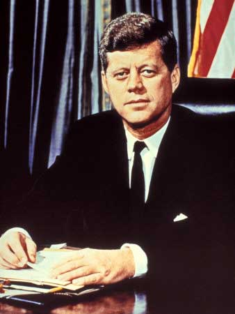"Portrait of President John F. Kennedy, from the TV Show, ""JFK Assassination as It Happened"""