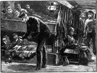 On Board an Emigrant Ship at the Time of the Irish Famine
