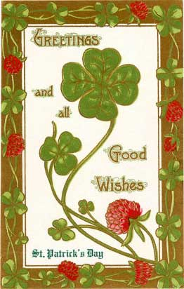 St. Patrick's Day, Greetings