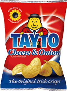 Tayto Cheese & Onion Flavor Crisps