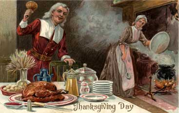 Thanksgiving Day - Pilgrim Dinner Scene