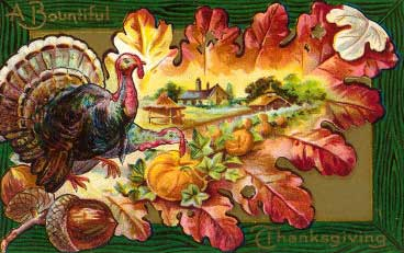 Turkey on Oak Leaf