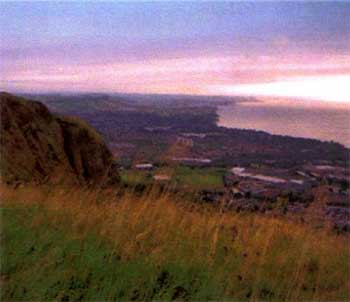 A view from Belfast Hills looking towards Belfast Lough