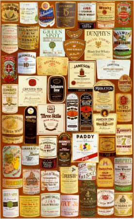 Irish Whiskey Labels